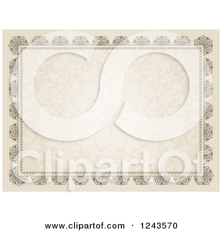 Clipart of a Vintage Certificate Border - Royalty Free Vector Illustration by KJ Pargeter