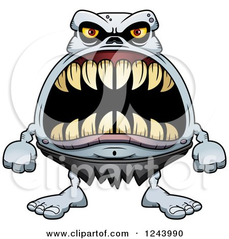 Clipart of a Ghoul Monster with Big Teeth - Royalty Free Vector Illustration by Cory Thoman