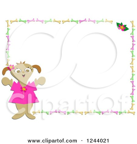 Royalty-Free (RF) Dog Frame Clipart, Illustrations, Vector Graphics #1