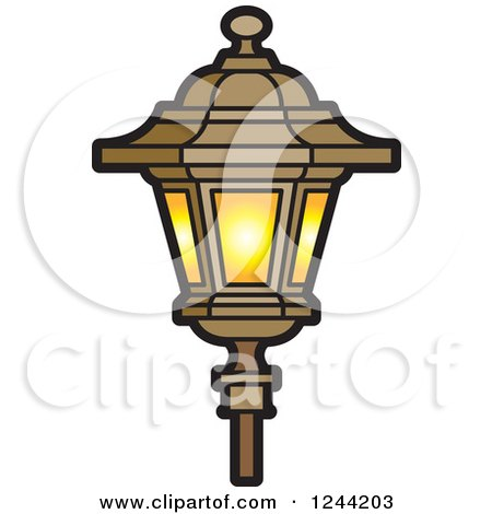 Royalty Free Rf Lamp Post Clipart Illustrations Vector