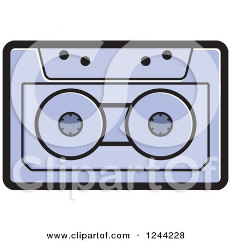 Clipart of a Purple Cassette Tape - Royalty Free Vector Illustration by Lal Perera