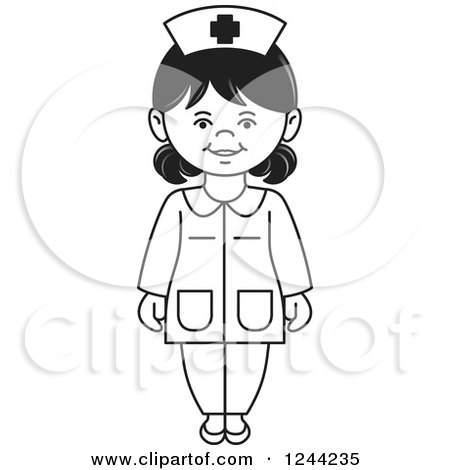Black And White Female Nurse 1244235 on construction robots