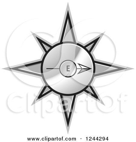 Clipart Of A Blue Compass Royalty Free Vector Illustration By Lal