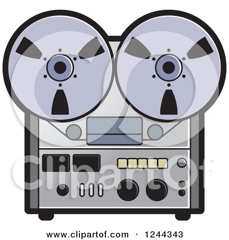 Clipart of a Vintage Tape or Film Recorder - Royalty Free Vector Illustration by Lal Perera