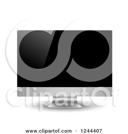 Clipart of a 3d Computer Monitor - Royalty Free Vector Illustration by vectorace