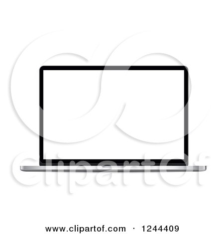 Clipart of a 3d Laptop Computer - Royalty Free Vector Illustration by vectorace