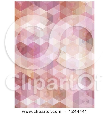 Clipart of a Pink Geometric Hexagon Background - Royalty Free Vector Illustration by KJ Pargeter