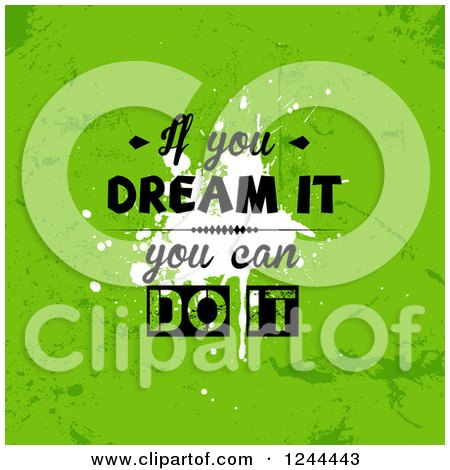 Clipart of a if You Believe It, You Can Do It Quote in a Frame ...