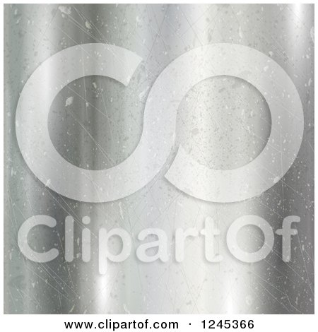 Clipart of a Scratched and Dented Metal Background - Royalty Free Illustration by KJ Pargeter