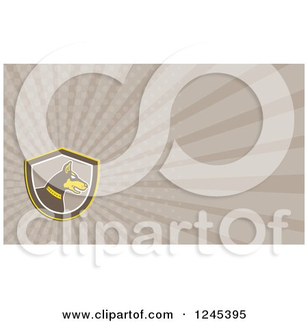 Clipart of a Ray Doberman Background or Business Card Design - Royalty Free Illustration by patrimonio
