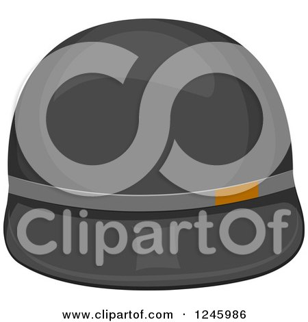 Clipart of a Polo Hat - Royalty Free Vector Illustration by BNP Design Studio