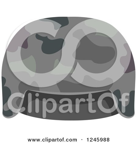 Clipart of a Camouflage Military Hat - Royalty Free Vector Illustration by BNP Design Studio