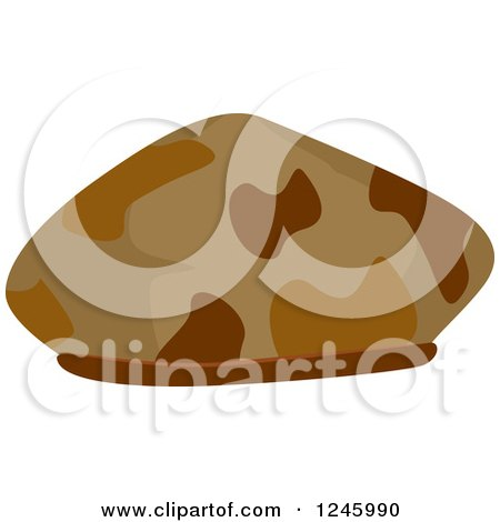 Clipart of a Brown Camouflage Military Hat - Royalty Free Vector Illustration by BNP Design Studio