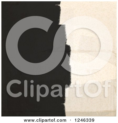 Clipart of Strokes of Black Paint on a Beige Wall - Royalty Free Vector Illustration by elaineitalia
