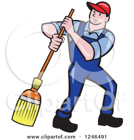 royalty free rf janitor clipart illustrations vector graphics 2 rh clipartof com Janitor Clip Art Custodian Clip Art