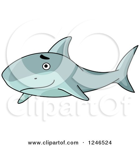Clipart of a Happy Shark - Royalty Free Vector Illustration by Vector Tradition SM