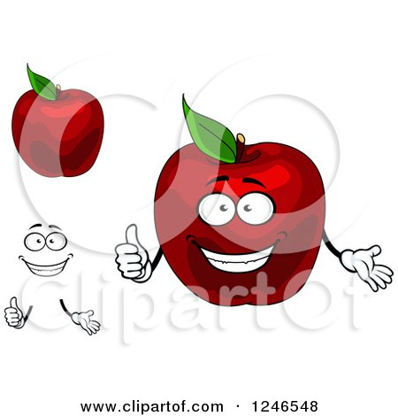 Clipart of Red Apples - Royalty Free Vector Illustration by Vector Tradition SM
