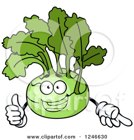 Clipart of a Kohlrabi Character - Royalty Free Vector Illustration by Vector Tradition SM