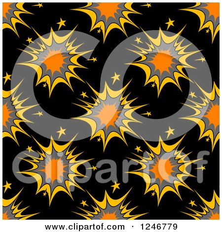 Clipart of a Seamless Explosion Background Pattern - Royalty Free Vector Illustration by Vector Tradition SM