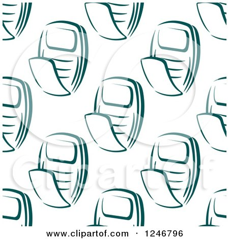 Clipart of a Seamless Teal Flip Phone Background Pattern - Royalty Free Vector Illustration by Vector Tradition SM