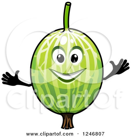 Clipart of a Watermelon Character - Royalty Free Vector Illustration by Vector Tradition SM