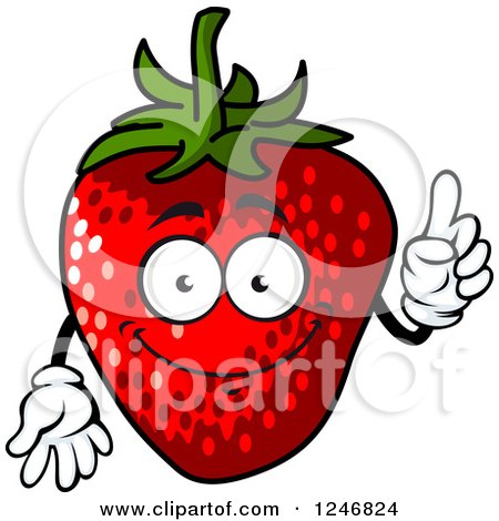 Clipart of a Strawberry - Royalty Free Vector Illustration by Vector Tradition SM