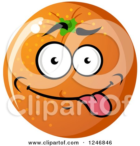 Clipart of an Orange Character - Royalty Free Vector Illustration by Vector Tradition SM