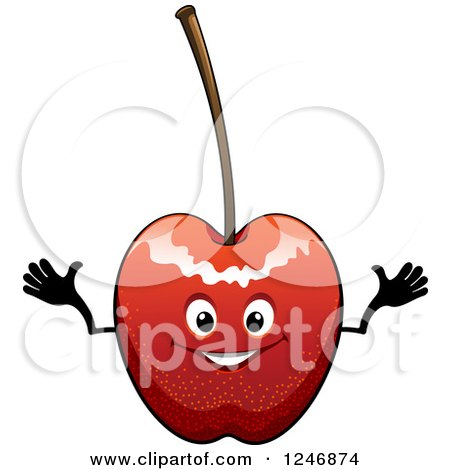 Clipart of a Cherry Character - Royalty Free Vector Illustration by Vector Tradition SM