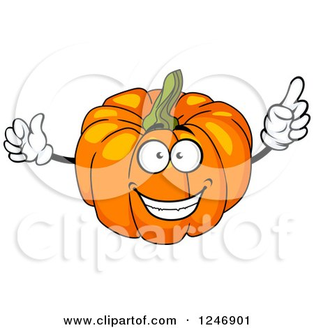 Clipart of a Pumpkin Character - Royalty Free Vector Illustration by Vector Tradition SM