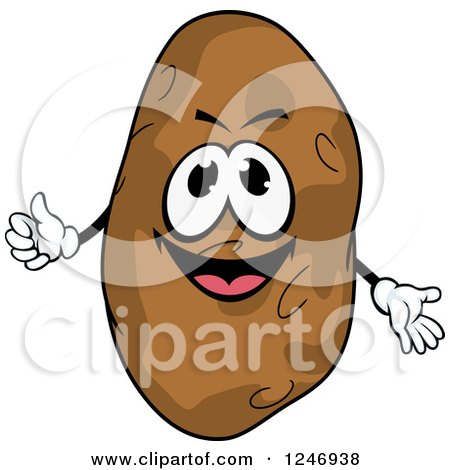 Clipart of a Potato Character - Royalty Free Vector Illustration by Vector Tradition SM