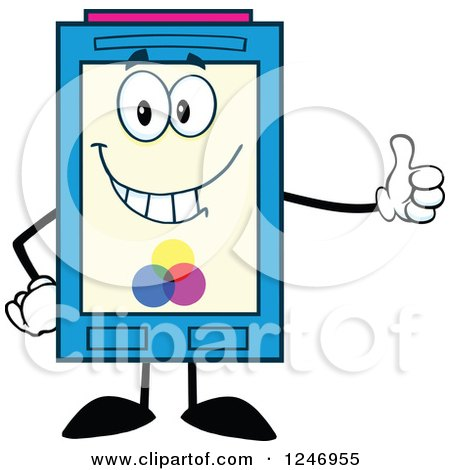 Color Ink Cartridge Character Mascot Holding a Thumb up Posters, Art Prints