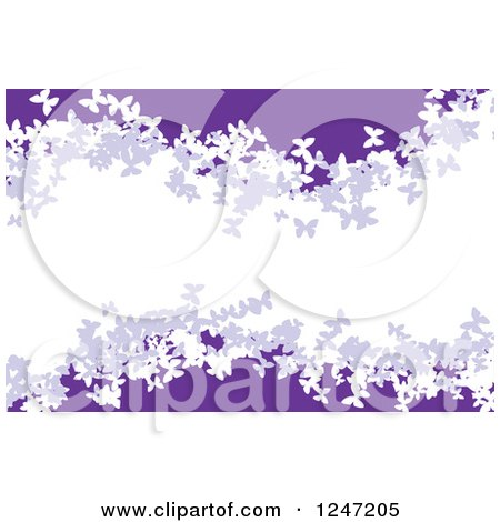 Clipart of a Purple and White Butterfly Wave Background - Royalty Free Vector Illustration by Arena Creative