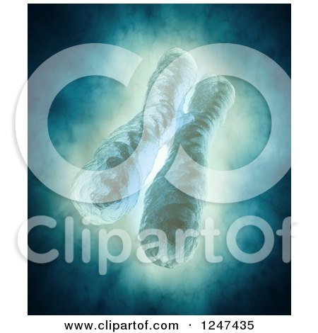 Clipart of a 3d Chromosome - Royalty Free Illustration by Mopic