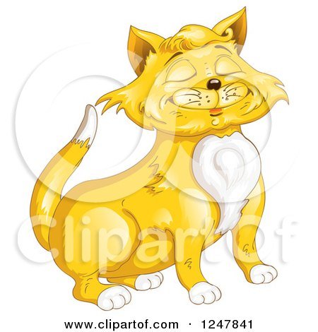 Clipart of a Proud Ginger Cat - Royalty Free Vector Illustration by merlinul