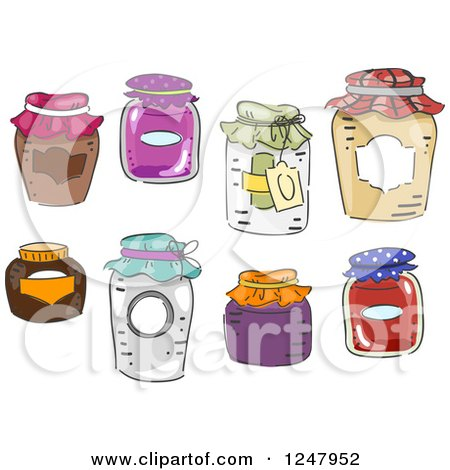 Clipart of Canning Jars - Royalty Free Vector Illustration by BNP Design Studio