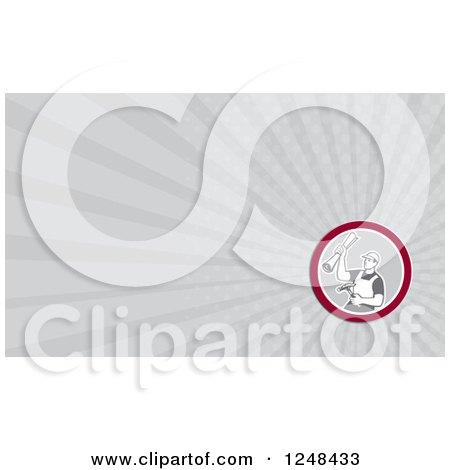 Carpenter Background or Business Card Design Posters, Art Prints