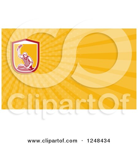 Clipart of a Butcher Background or Business Card Design - Royalty Free Illustration by patrimonio