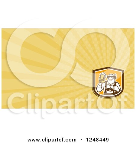 Clipart of a German Man with Beer Background or Business Card Design - Royalty Free Illustration by patrimonio