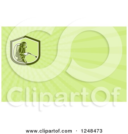 Clipart of a Pest Control Exterminator Background or Business Card Design - Royalty Free Illustration by patrimonio