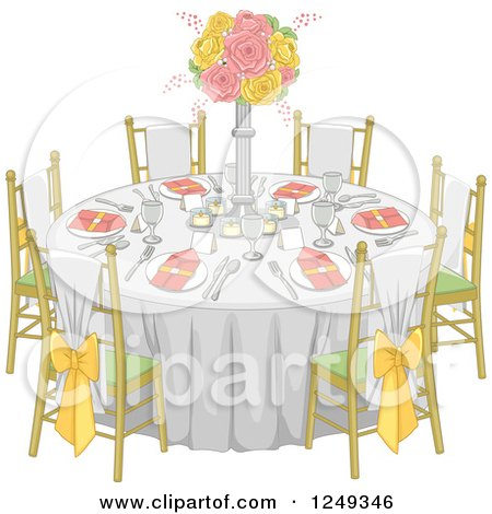 Royalty-Free (RF) Dining Table Clipart, Illustrations, Vector ...