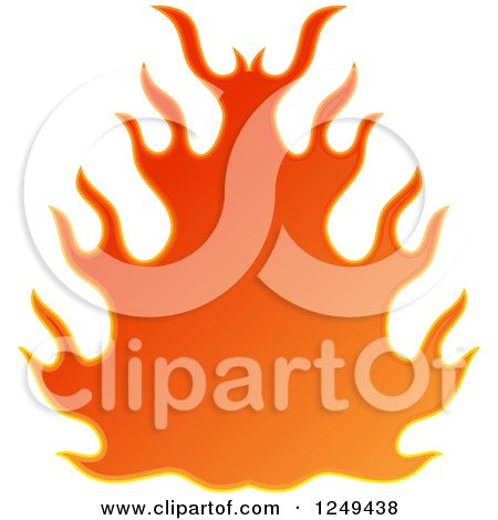 Clipart of a Fire - Royalty Free Illustration by Prawny