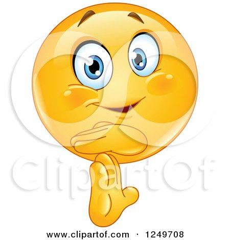 Clipart of a Yellow Emoticon Smiley Gesturing Time out - Royalty Free Vector Illustration by yayayoyo