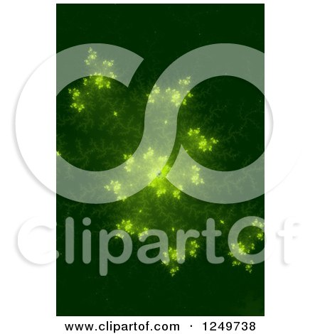 Clipart of a Green Mandelbrot Fractal Spiral - Royalty Free Illustration by oboy