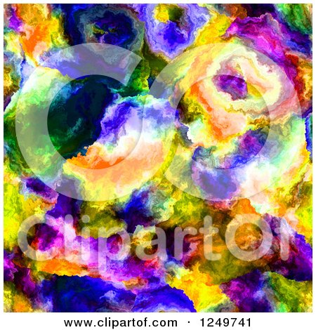 Clipart of a Colorful Seamless Abstract Watercolor Painting Background - Royalty Free Illustration by Arena Creative