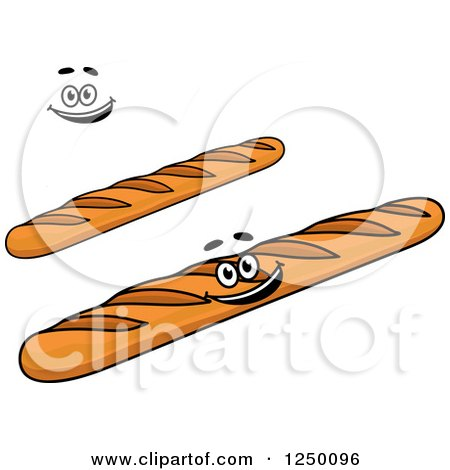 Clipart of Baguette Breads - Royalty Free Vector Illustration by Vector Tradition SM