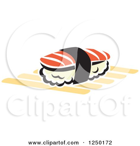 Clipart of Sushi - Royalty Free Vector Illustration by Vector Tradition SM