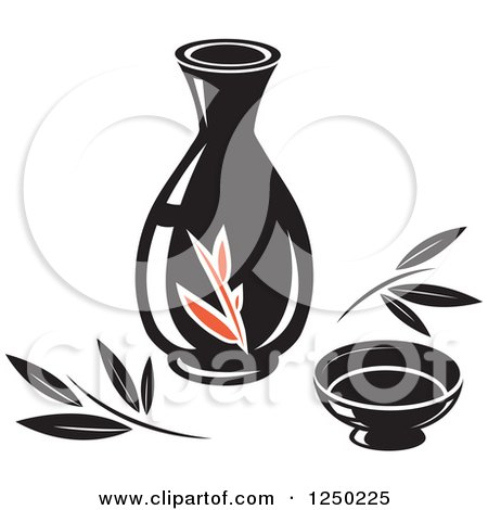 Clipart of Oil for Asian Cuisine - Royalty Free Vector Illustration by Vector Tradition SM