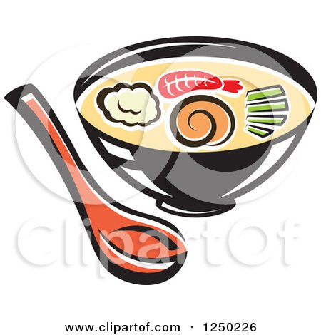 Clipart of Oriental Soup - Royalty Free Vector Illustration by Vector Tradition SM