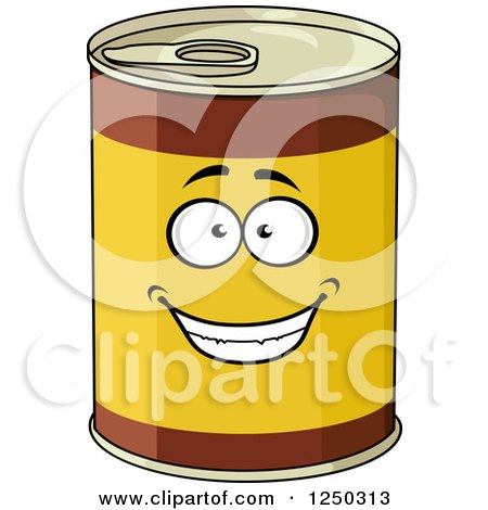 Clipart of Food Cans - Royalty Free Vector Illustration by Vector ...