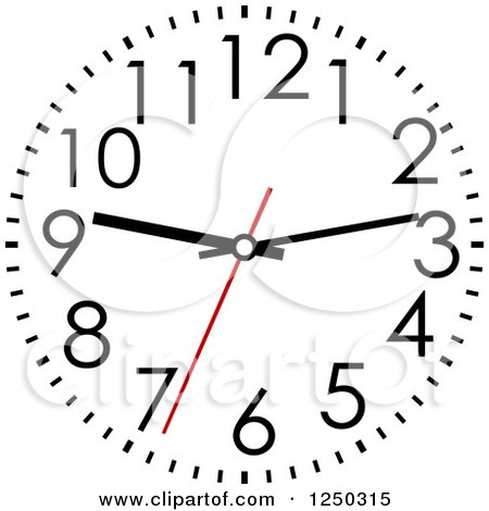Clipart of a Wall Clock - Royalty Free Vector Illustration by Vector Tradition SM